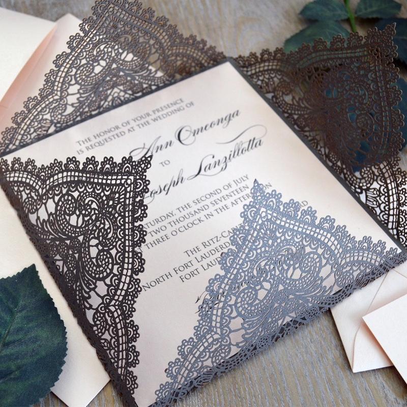 Always looking forward to helping you create the first impression the right way! How stylish and elegant are these laser cuts?!