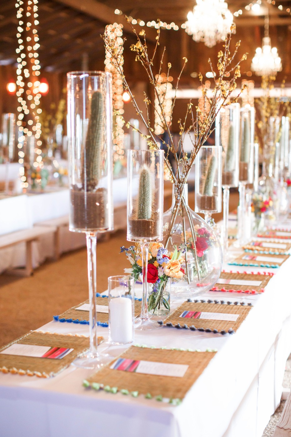 Colorful southwestern fiesta reception