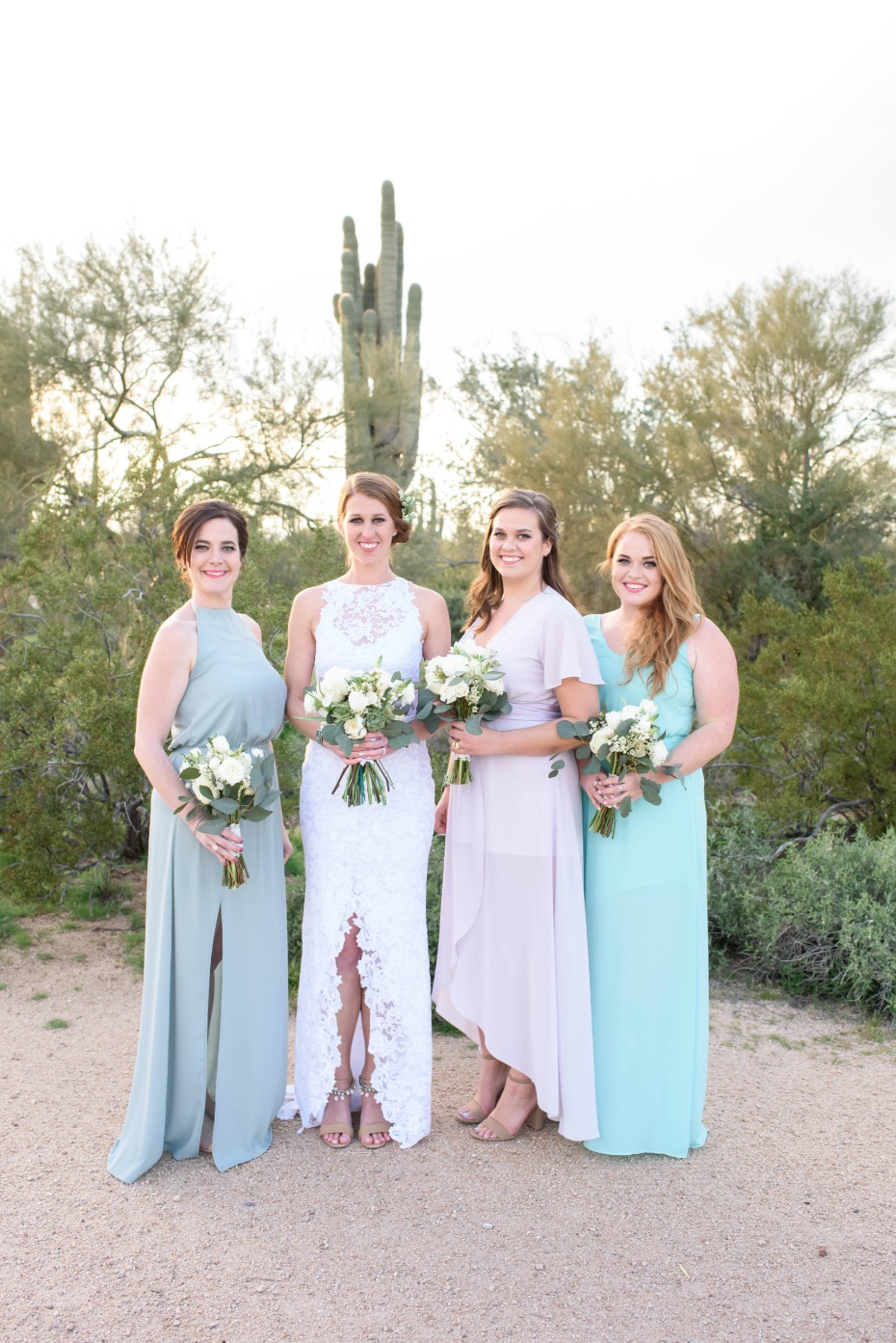 Desert bridesmaid look