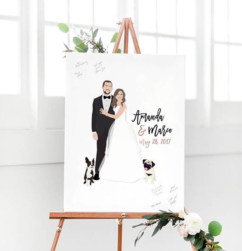 Miss Design Berry's guest book alternative captures the love and well wishes of your wedding guests in a fun, new way. Unlike a traditional