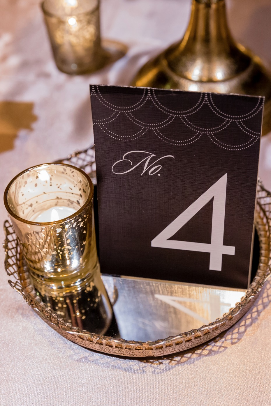 Modern chic table number