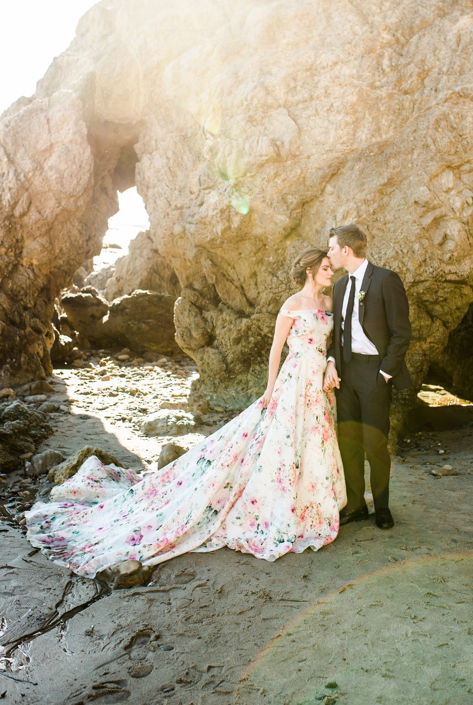we cannot get enough of this floral print wedding dress