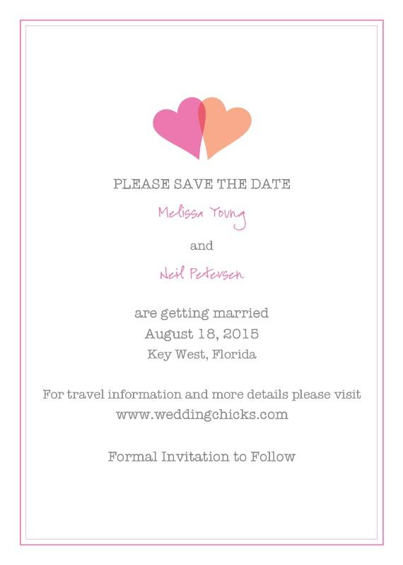 Two Hearts Free Printable Save The Date