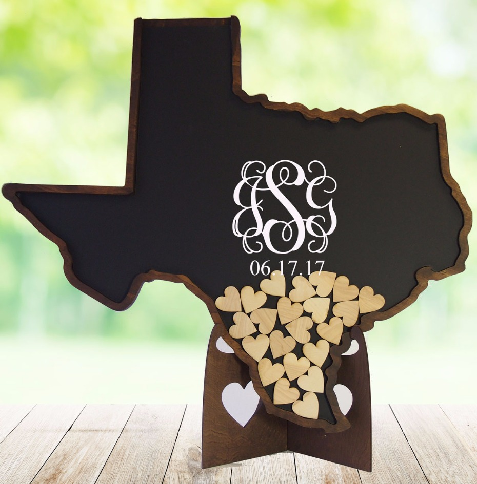 Show your state pride with your Coosa Designs guest book