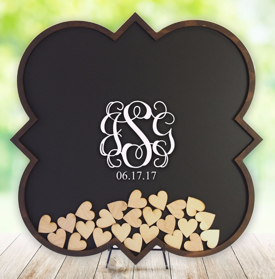 unique wedding guest books from Coosa Designs