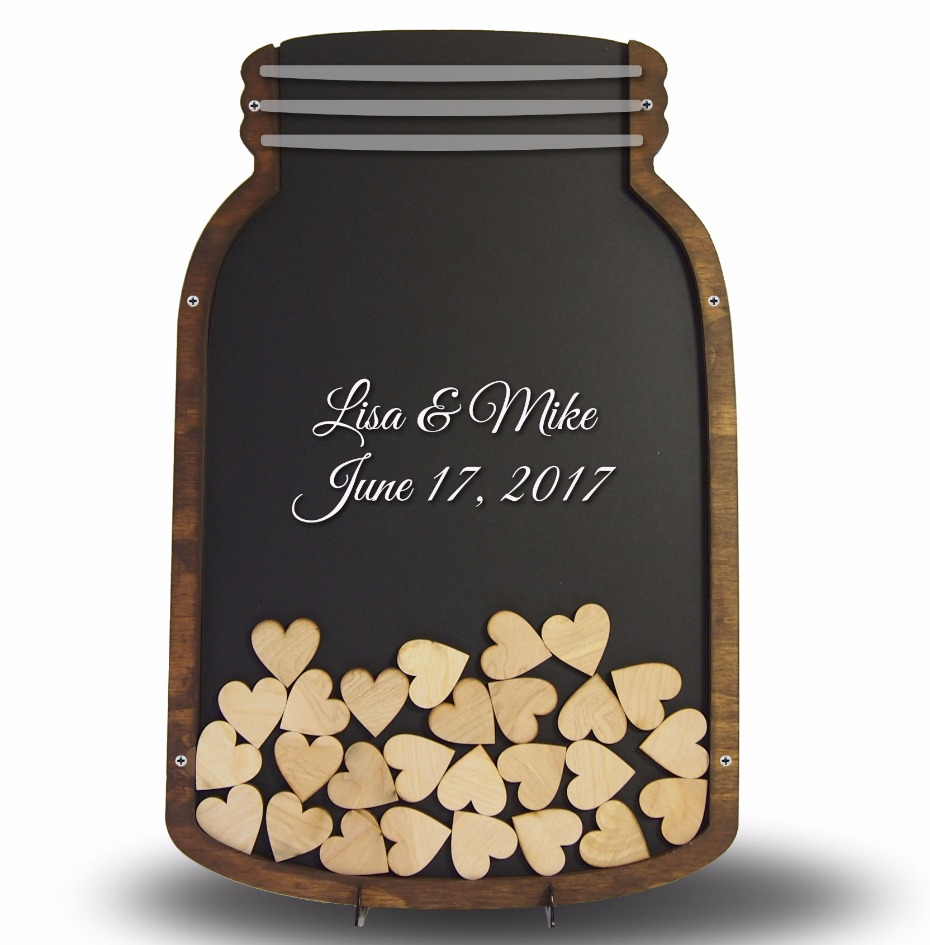 mason jar guest book from Coosa Designs