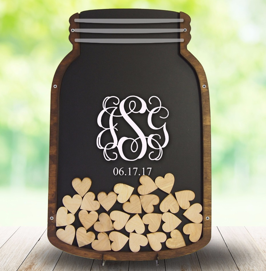 monogrammed Coosa Designs guest book