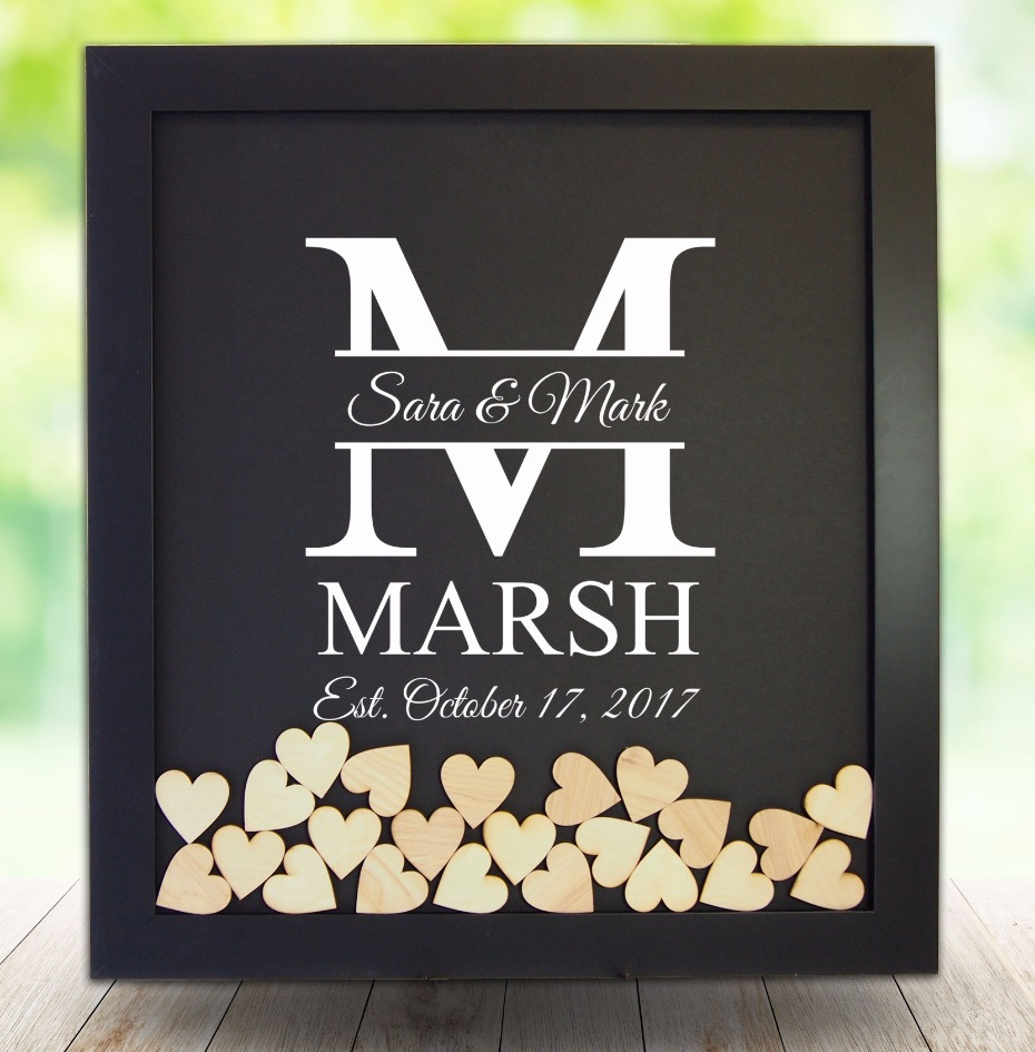 Classic wedding frame guest book