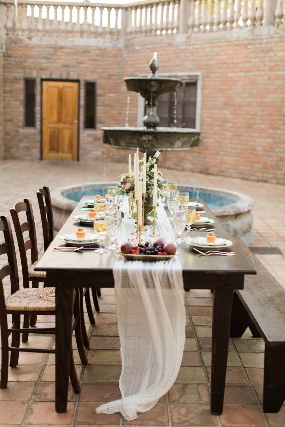 private party family style seating