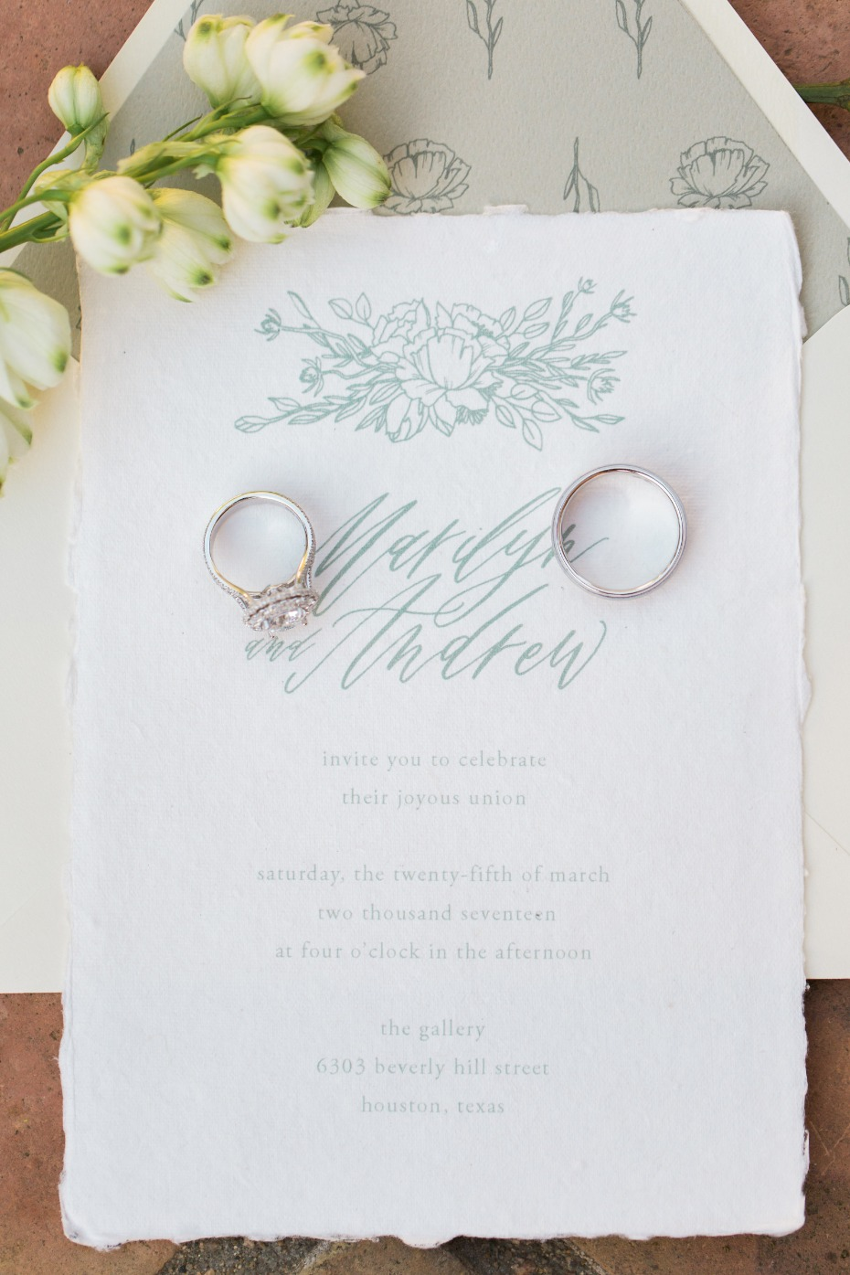 wedding invitation for your classic yet modern wedding day