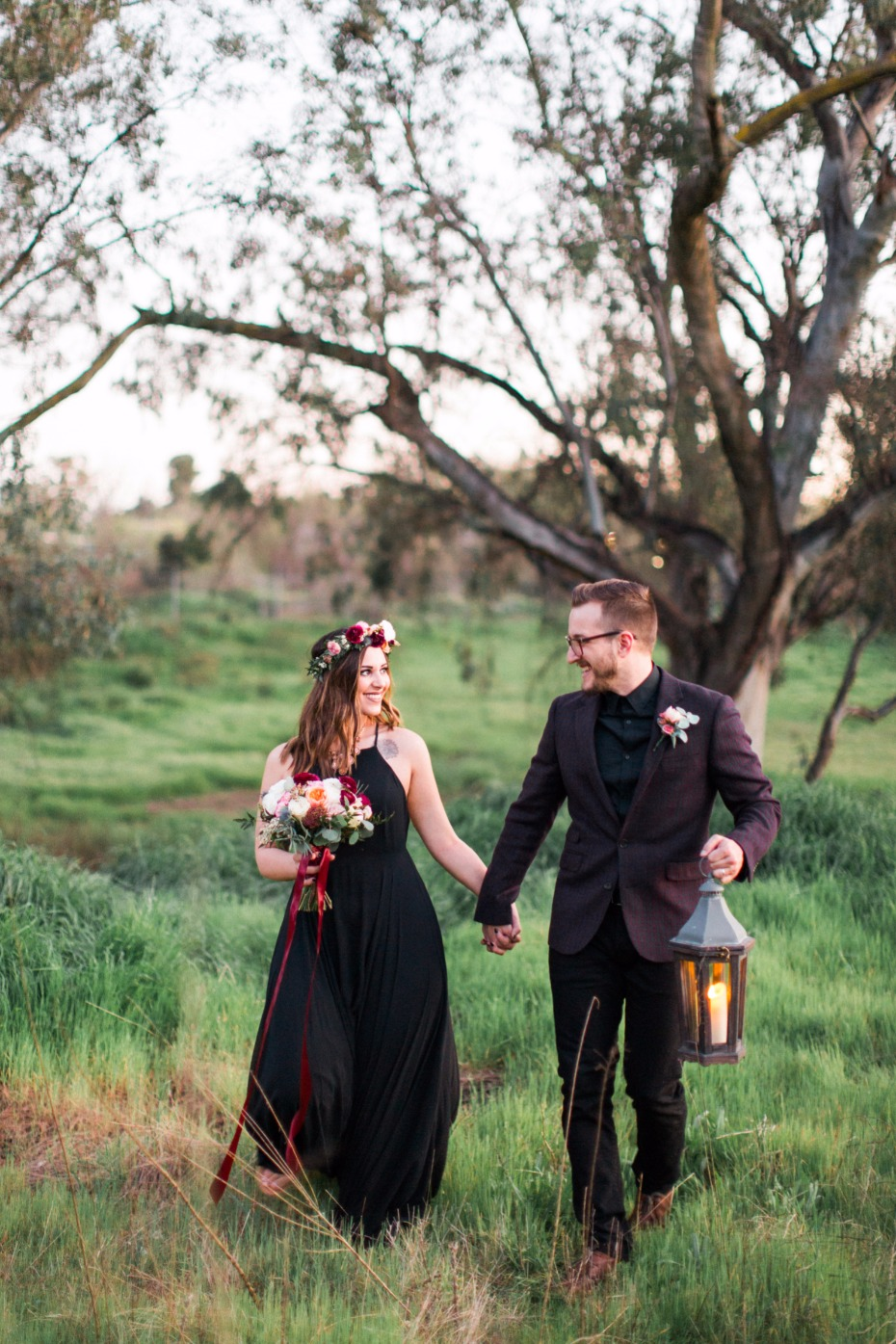 alternative bride and groom style
