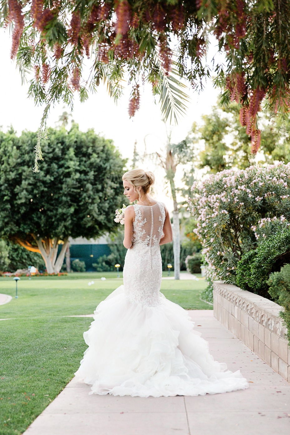 glamorous mermaid style wedding gown