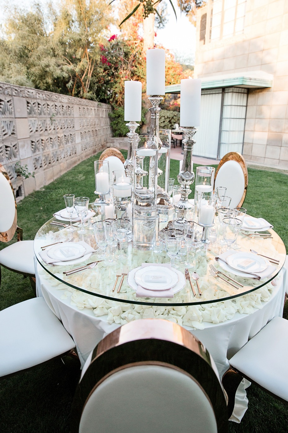 glamorous garden wedding table decor