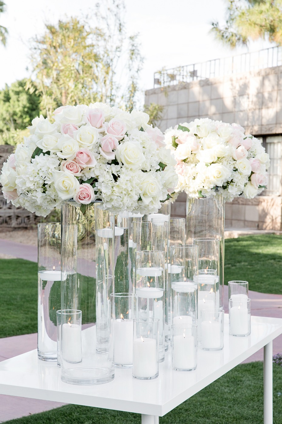 glam wedding backdrop for your modern garden wedding