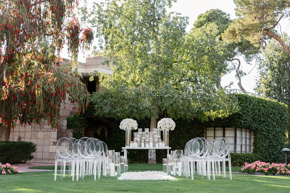 modern chic garden wedding idea
