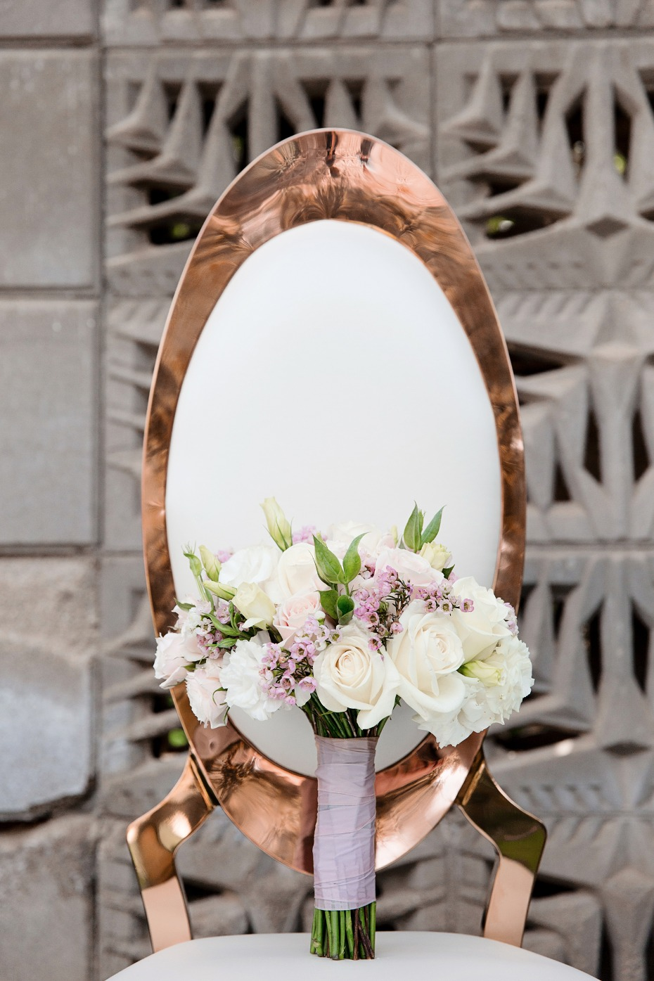 rose gold wedding chairs