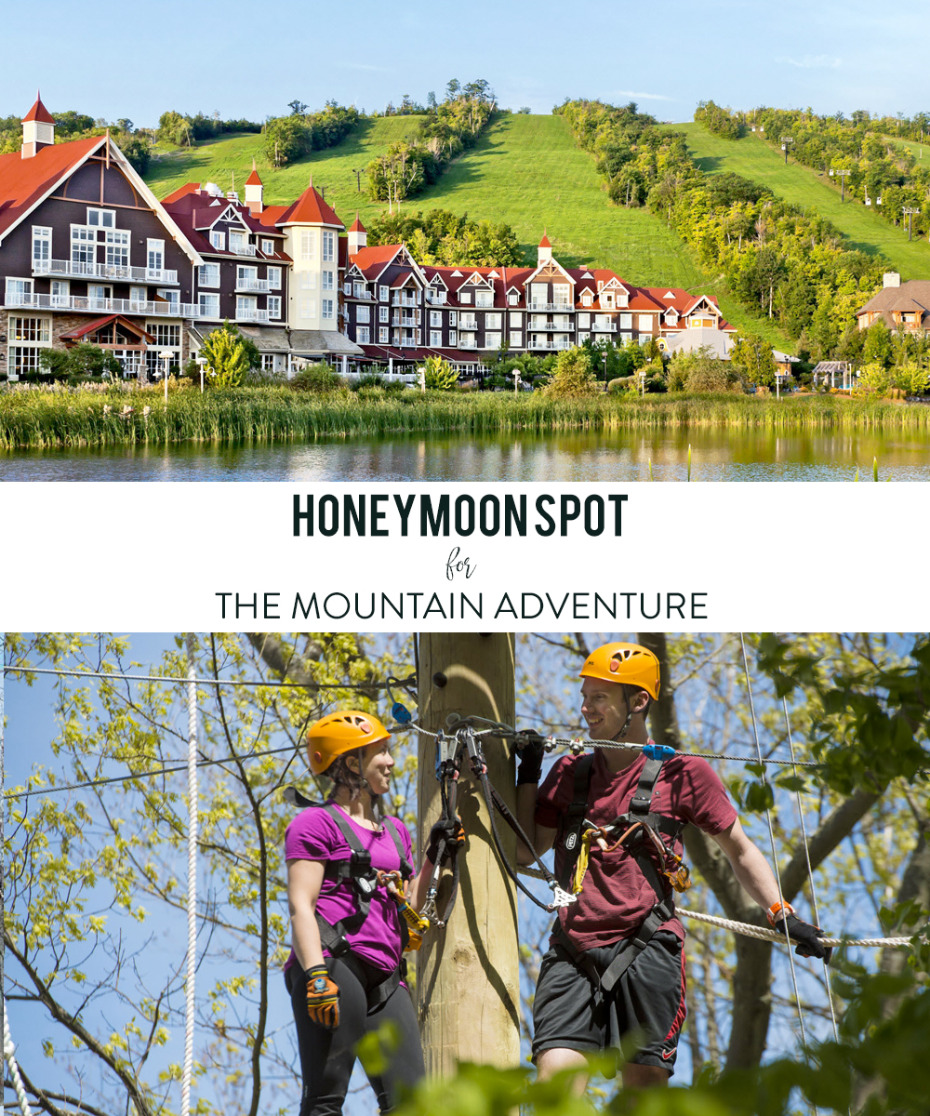 Canadian honeymoon destination for winter and summer