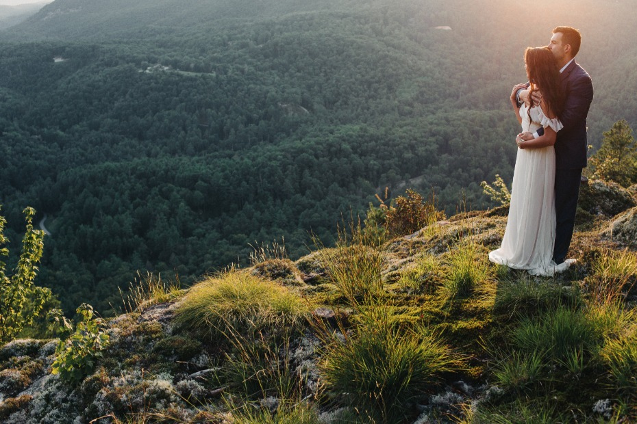 watching the sun set on your big day