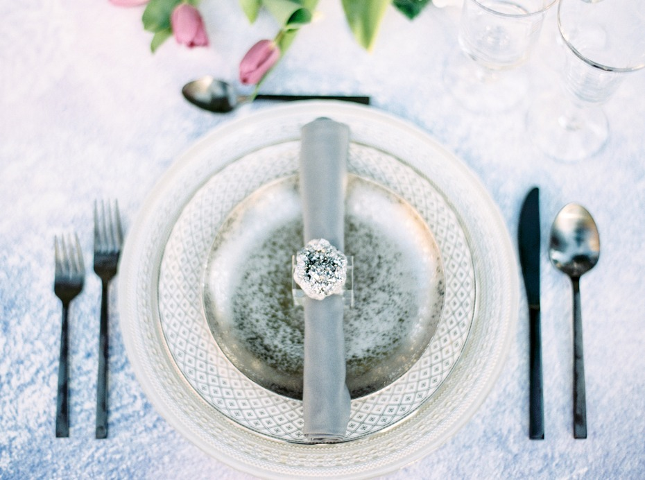 Silver place setting