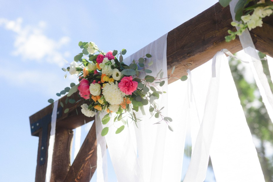 rustic chic wedding backdrop