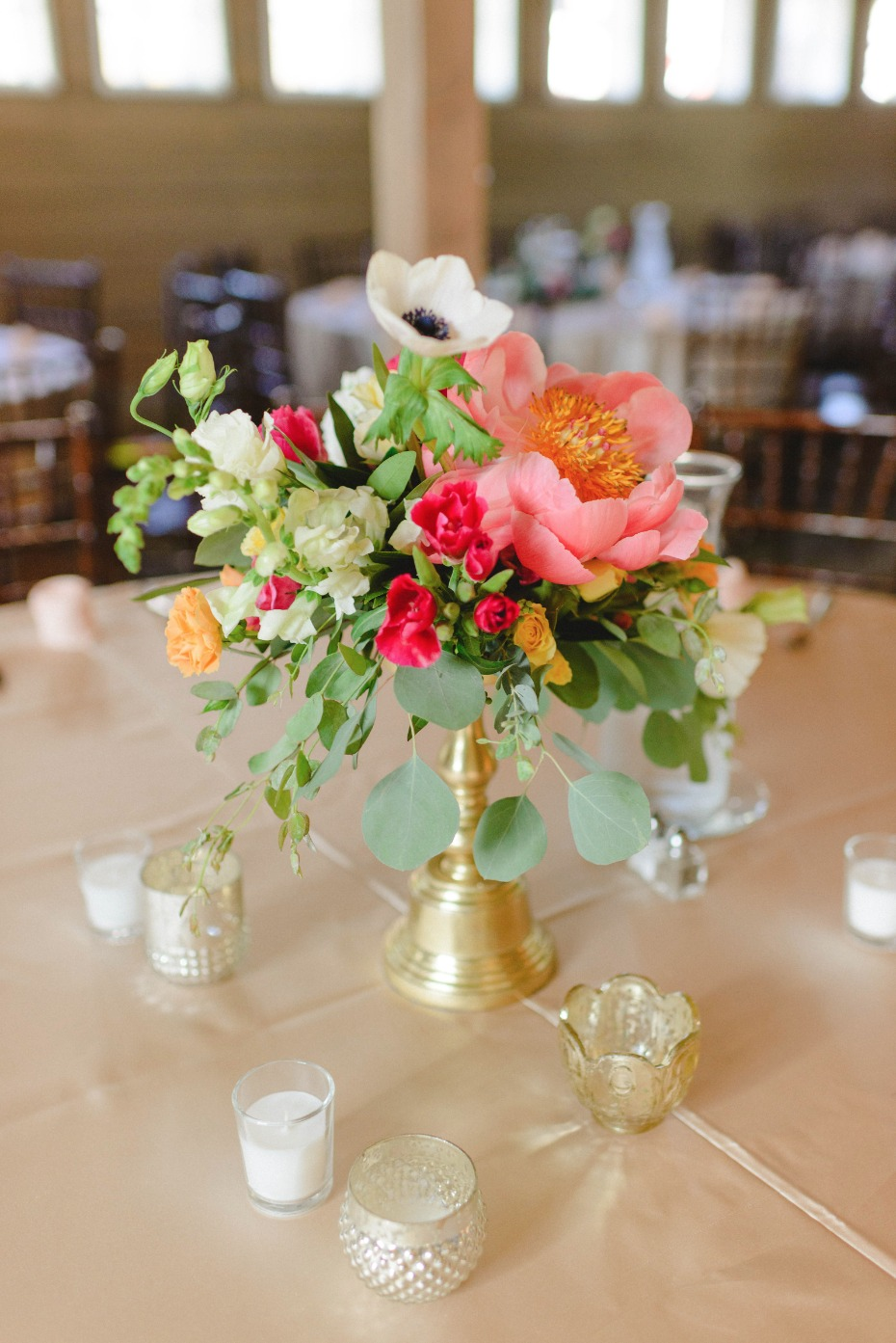 rustic chic wedding centerpiece