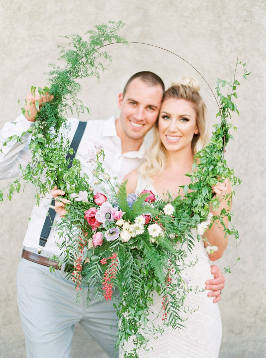 Photo booth floral ring prop