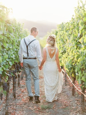 Feel the Magic at this Dreamy Romantic Vineyard Wedding