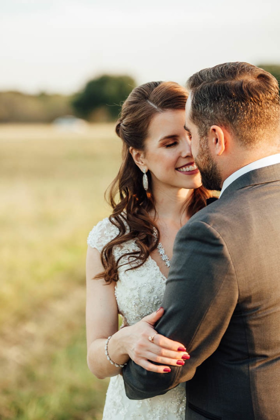 Beautiful fall wedding portrait