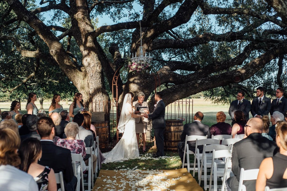 Rustic glam outdoor ceremony