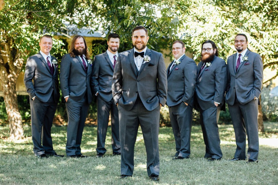 Dapper groom and his men