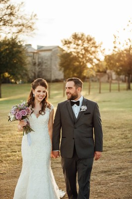 Elegant Green and Purple Fall Wedding Amongst the Silos