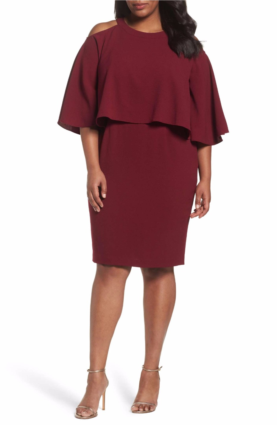 cold-shoulder-crepe-sheath-dress-adrianna-papell