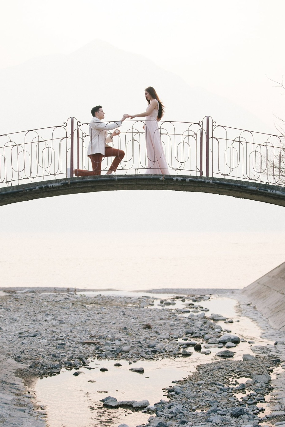 Beautiful bridge engagement