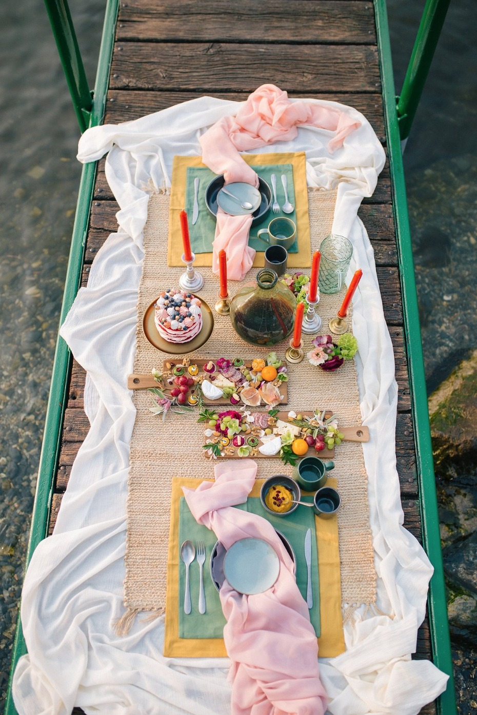 Colorful and yummy dock engagement feast