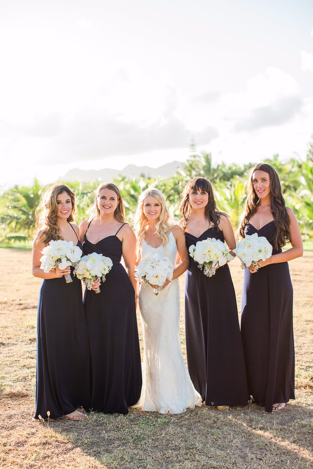 Bridesmaid dresses in black