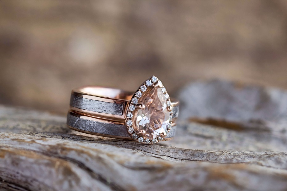 bands rings wedding gold johan jewelry meteorite blog ring engagement morganite rose l by meteor and