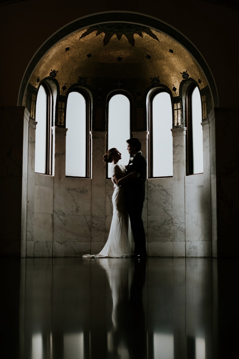 Gorgeous capture of the bride and groom