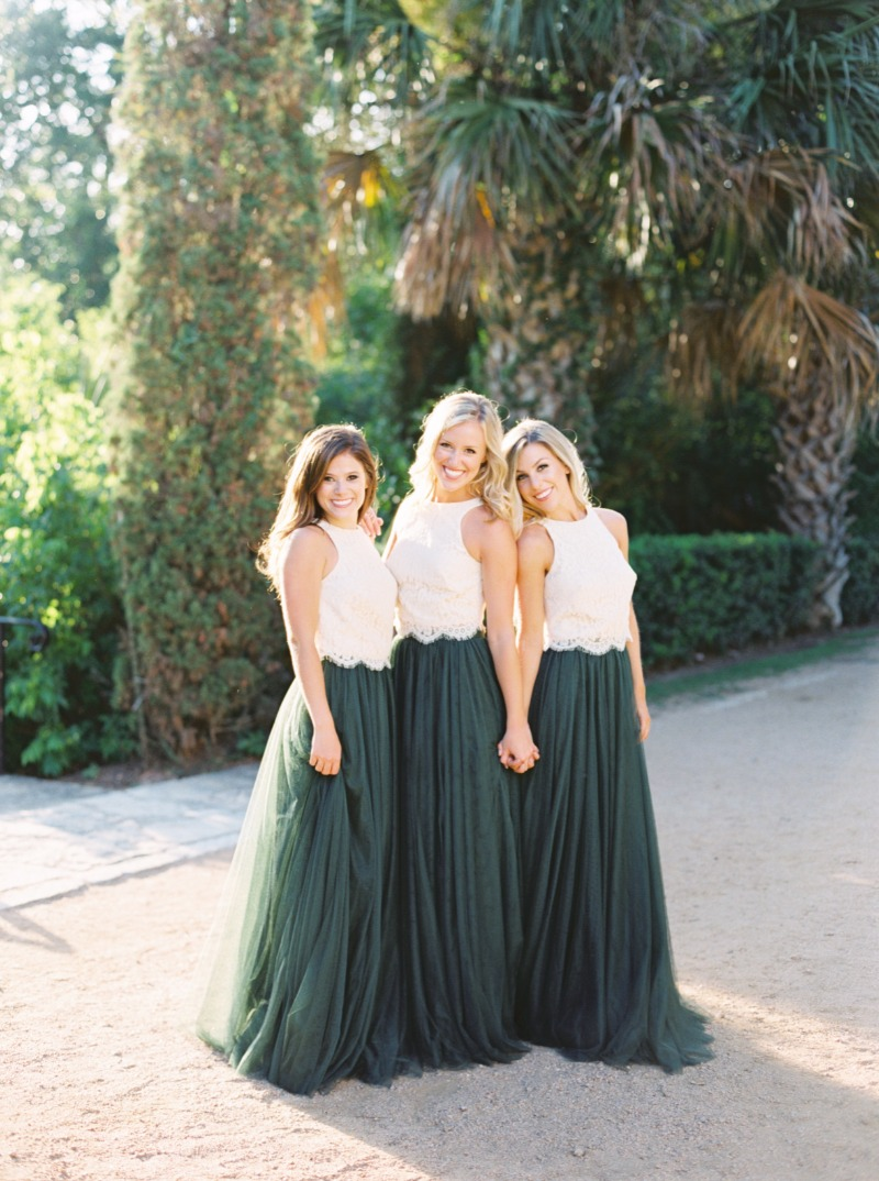 This is what it looks like when your bridesmaids are obsessed with their dresses.✨