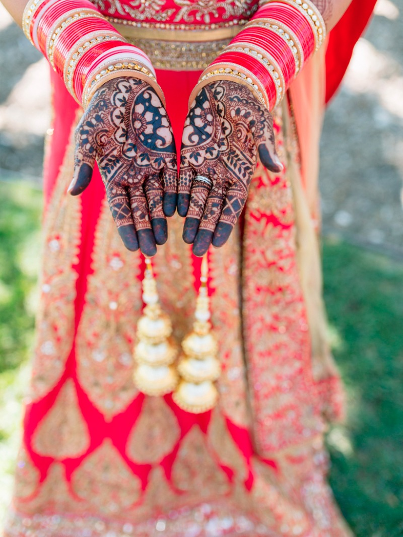 Intricate and modern Indian wedding styling at Greengate Ranch.