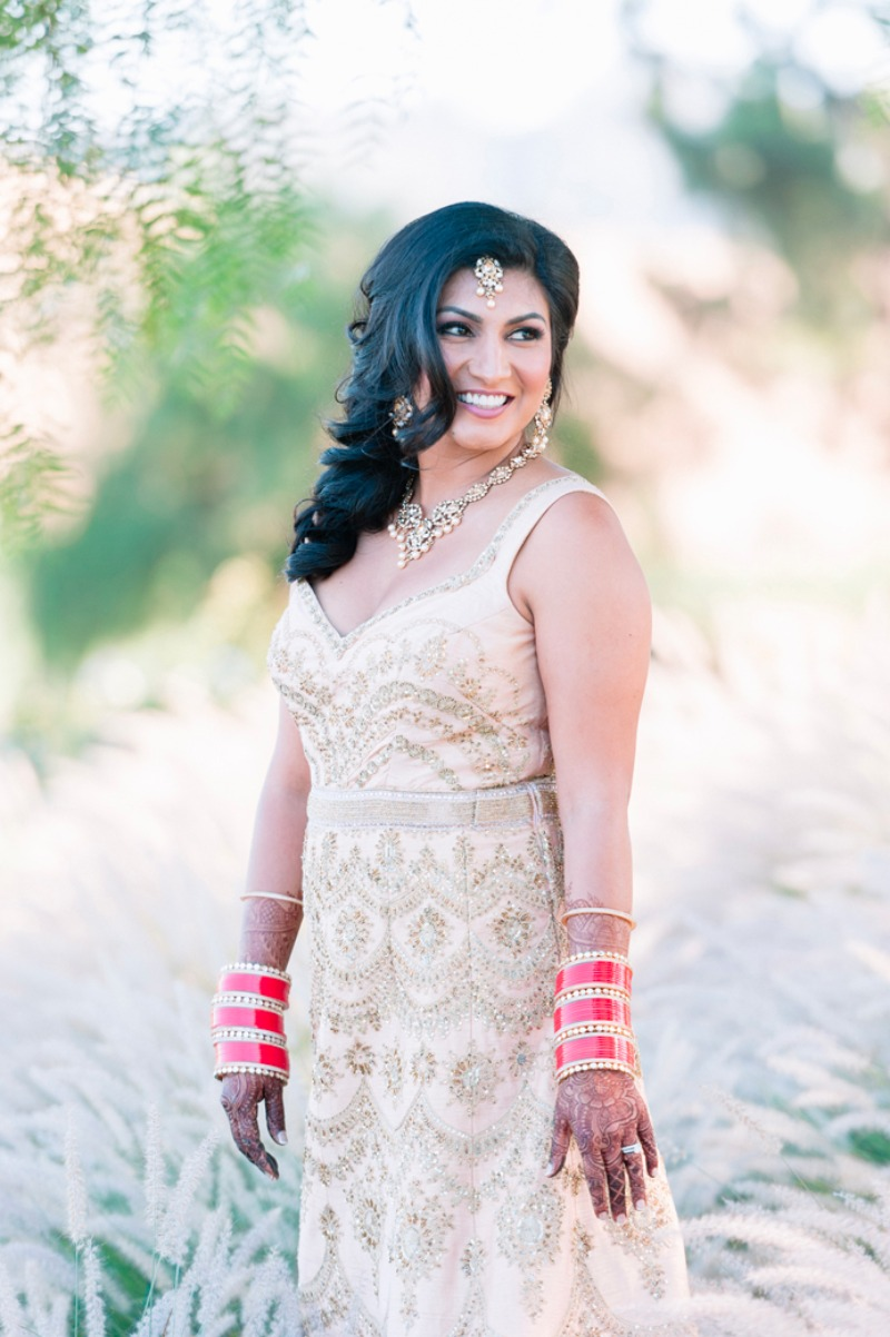 Preeya in her gorgeous and modern Indian evening gown.