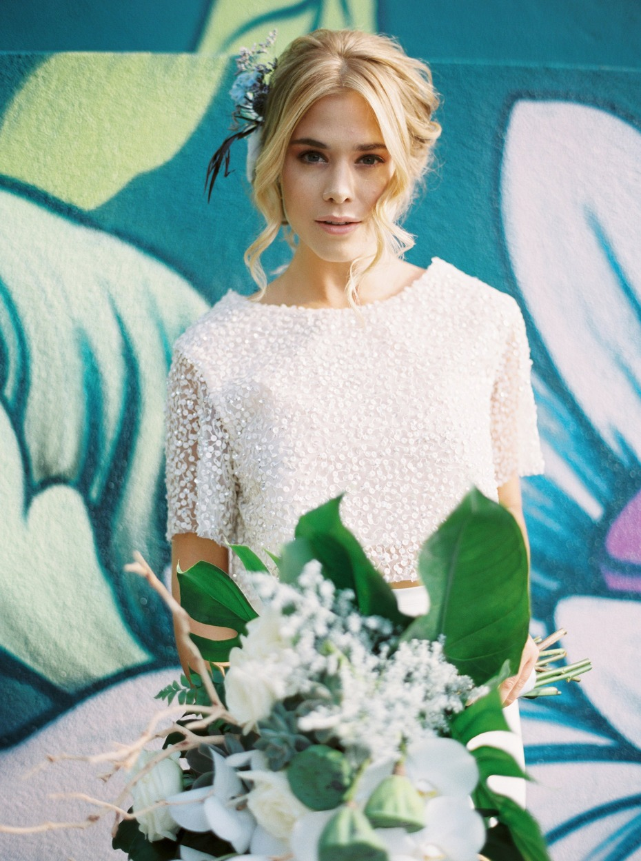 Bridal separates and a perfectly beaded top