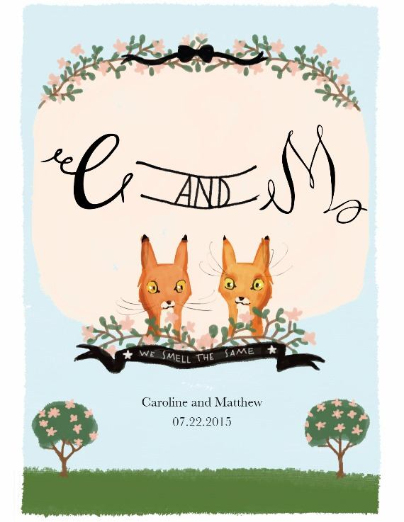 Print: We Smell the Same Free Printable Save The Date