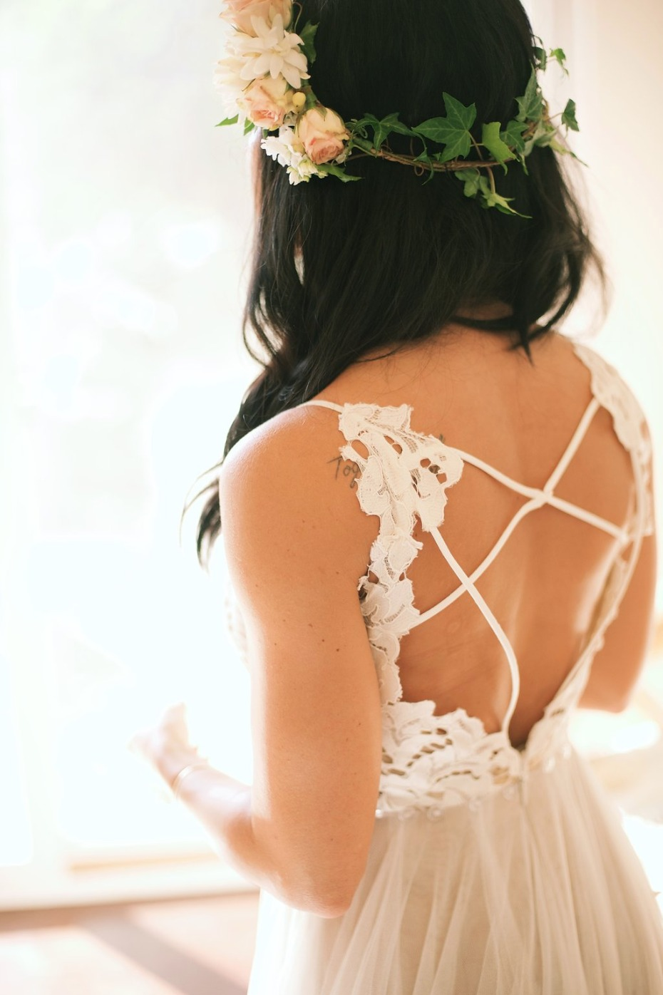 in love with the back of this wedding dress