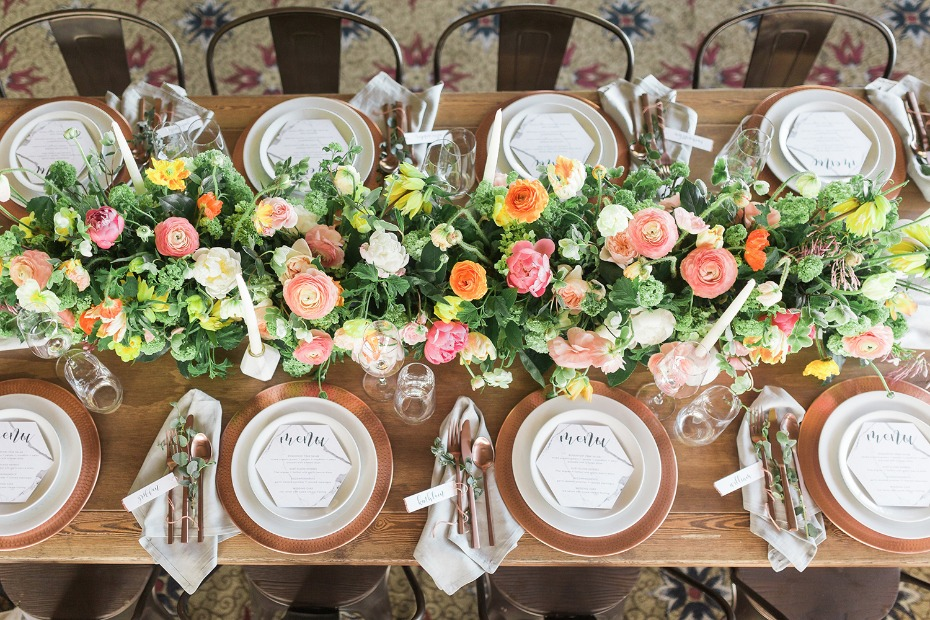 Color filled centerpiece