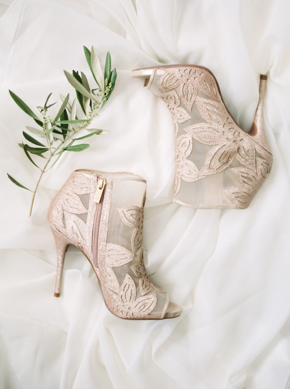Gorgeous rose gold booties