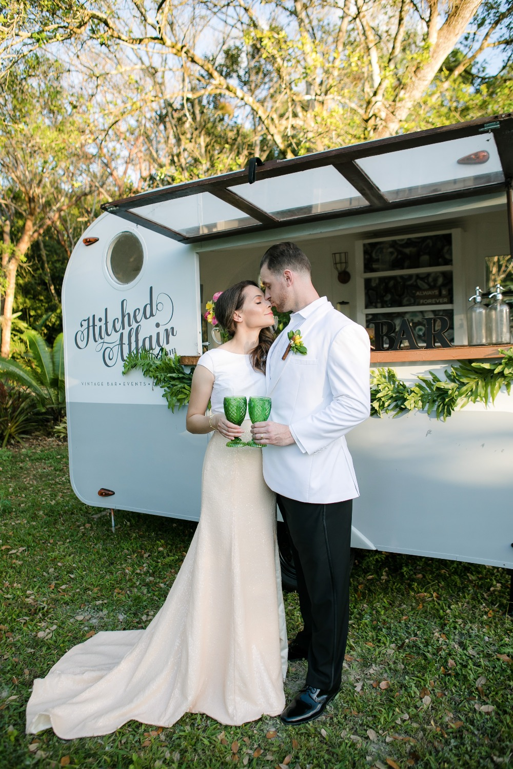 Hitched Affair wedding bar trailer