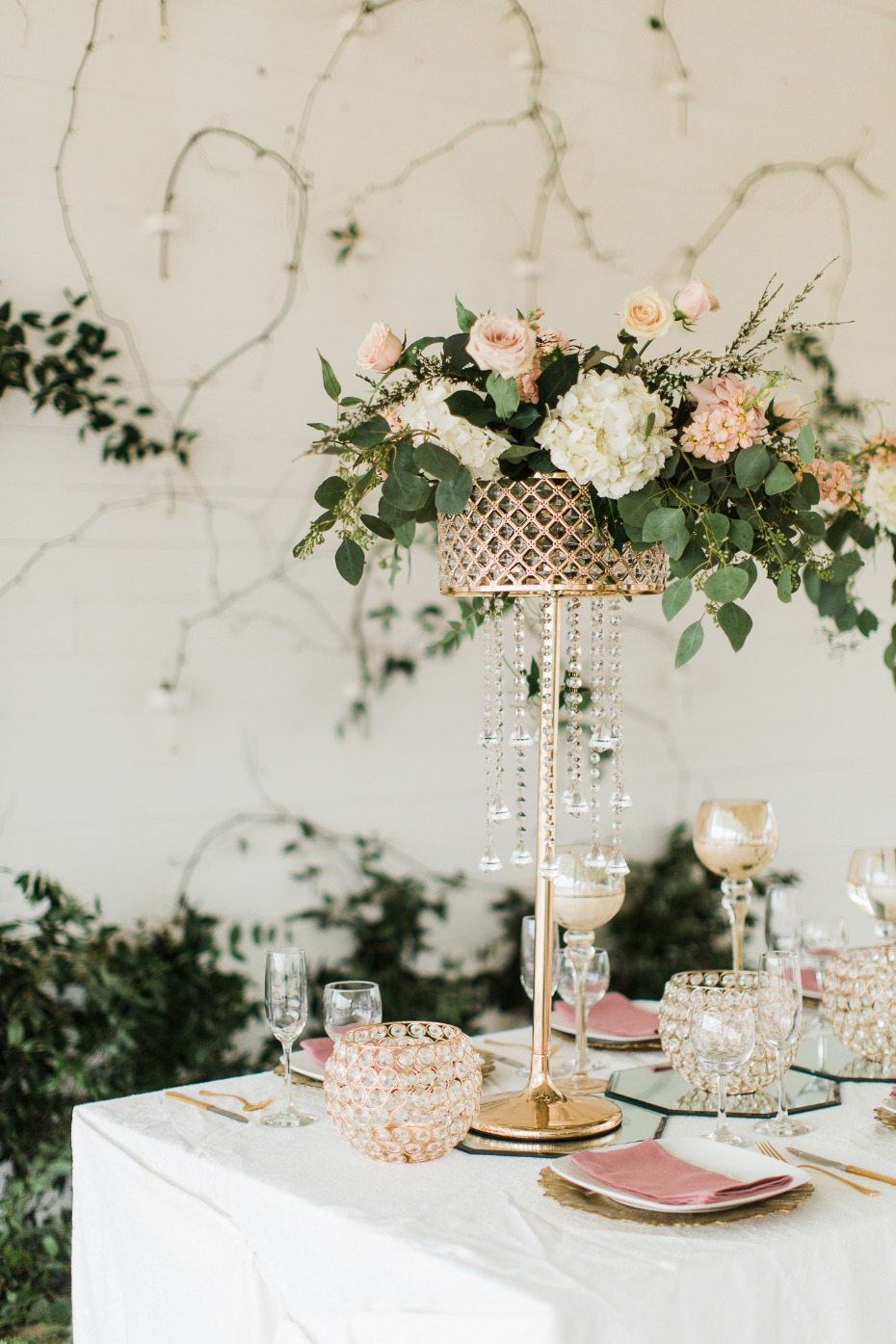 whimsically fancy table decor