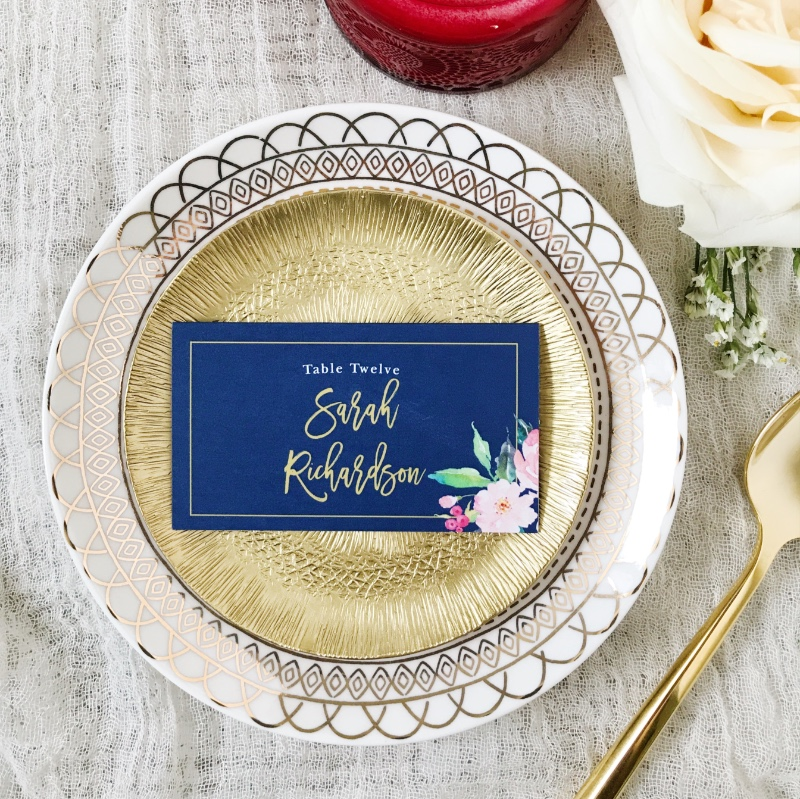 Customize your own table place cards with over 180 colors to round out your wedding table decor.