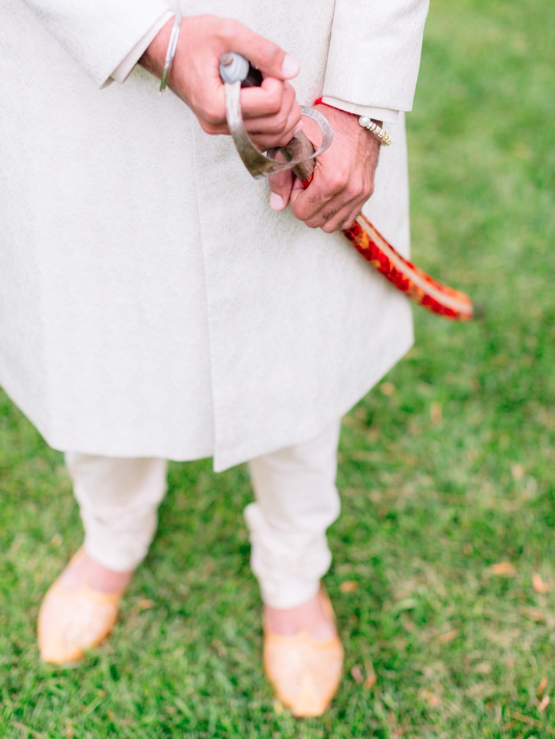 Traditional, ornamental saber for this beautiful Indian Wedding at Greengate Ranch in San Luis Obispo.