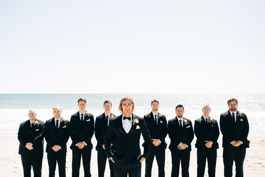 groomsman lined up for the wedding
